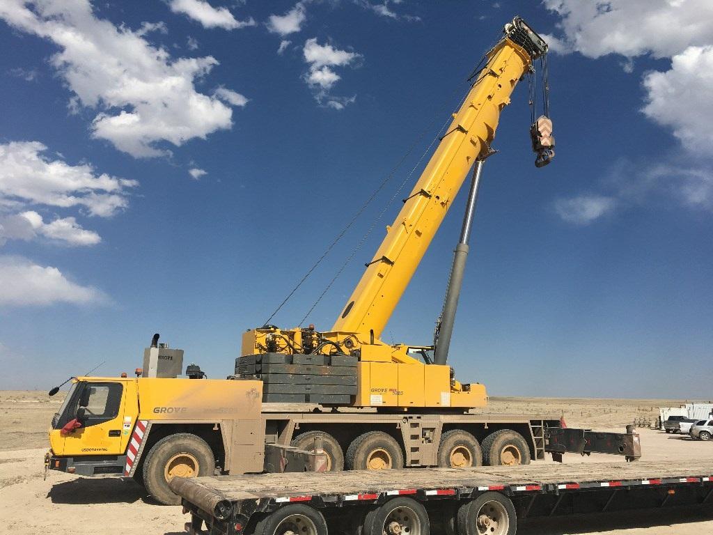 2014 grove gmk5225 all terrain crane for Crane grove